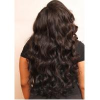Quality 24inch Virgin Cambodian Hair Tangle Free Natural Black Jerry Curly for sale