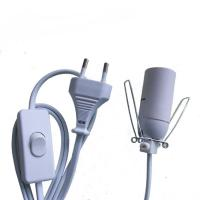 Quality VDE European power cord with E14 lamp holder and 303/304 switch for sale