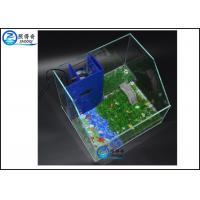 Quality Low Front Panel Custom Fish Tanks Aquatic Turtle Terrarium With Filter System for sale