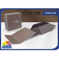 Quality Logo Printing Art Paper Gift / Watch Packaging Boxes , Foldable Packaging Paper Box for sale