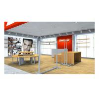 Quality Supermarket Simple Style Shop Display Equipment , Shop Wall Fittings Floor Standing Clothing Hanging for sale