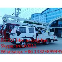 Quality hot sale best price Japanese ISUZU 14m-16m high altitude operation truck, ISUZU 4*2 LHD aerial working truck for sale for sale