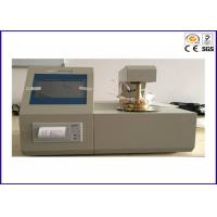 Buy cheap ASTM D56 Fire Testing Equipment , Tag Closed Cup Auto Flash Point Analyser from wholesalers