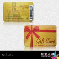 Quality Hot Stamping Business Printed Plastic Cards / gift Card With Logo , Photo for sale