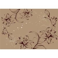 Buy Modern Flowers Bamboo Fiber Board For Living Room / Teahouse Decoration at wholesale prices