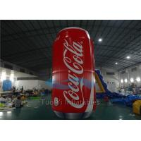 Quality Giant Inflatable Coke Can Customized with PVC Tarpaulin Material for sale