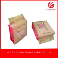 Quality Matt Material Candy Packaging Plastic Block Bottom Bags With Clear Window for sale