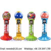 Buy Tabletop Desktop Mini Coin Operated Gumball Capsule Toy Vending Machine at wholesale prices