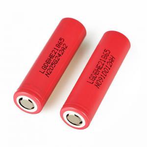 Quality Authentic vape battery LG HE2 18650 3.7V li ion ICR battery 2500mAh for sale
