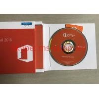Quality Genuine Microsoft Office 2016 Proffesional Retail Box DVD 32 Bit / 64 Bit DVD + COA Sticker for sale