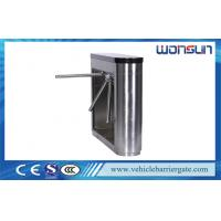 Quality Professional Metro / subway Turnstile Barrier Gate with 304 Stainless Steel Housing for sale
