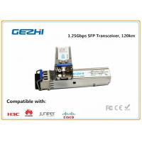 Quality 1.25Gbps SFP Optical Transceiver , 120km Reach Single Mode SFP EZX Optical Transceiver for sale