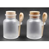 China Cork bath salt jars with wooden spoon 100g, 200g, 300g, 500g on sale