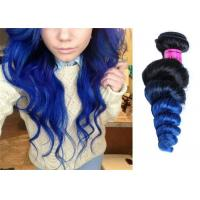 """Quality 10"""" - 32"""" Body Wave Brazilian Weaves Hair Extensions , Black To Blue Grade 7A Brazilian Hair for sale"""