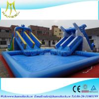 Buy Hansel top sale inflatable square swimming pool for water party at wholesale prices