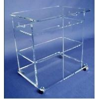 Quality clear plexiglass lucite bar cart,acrylic food trolley for dining room for sale
