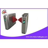 Quality Biometric Retractable Flap Barrier Gate Double Swing Arm Turnstile 50W Power for sale