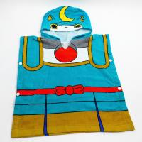 Quality Blue Children Hooded Beach Towels / Baby Bath Towels For Swimming for sale