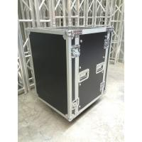 Buy 9mm Thickness Plywood Black 12U Amplifier Anti shock Rack Flight Case , 9/12 mm thickness at wholesale prices