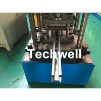 Quality Custom Made Sliding Shutter Door Guide Rail Roll Forming Line With Chain Drive for sale