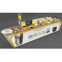 Quality Durable Modern Retail Floor Display Stands MDF For Computer / Table PC Promotion for sale