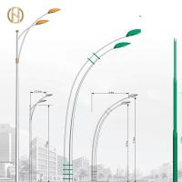 Quality 3-12M Galvanized Street Lamp Pole Wind Resistant for sale