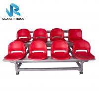 Quality 3 / 4 / 5 Rows Aluminum Stadium Bleachers Corrosion Resistance 3000 * 240mm Board for sale