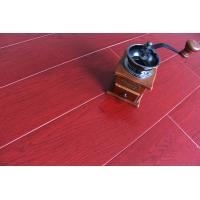 Quality Crystal Surface Bamboo Fiber Wooden Floor Tiles Fireproof Bright Wine Red for sale