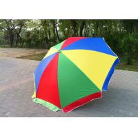 Quality Windproof Storm Promotional Beach Umbrellas With 420D Oxford Fabric , Round Shaped for sale