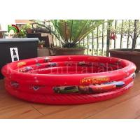 Quality Triple Tubes Round Kids Inflatable Swimming Pools PVC Tarpaulin Cute Cartoon for sale