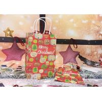 Quality Fashion Professional Colored Paper Gift Bags With Handles  Lovely Christmas Features for sale