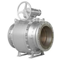Quality API6D FULL BORE BALL VALVE R-PTFE SEAT 150LB 14INCH BALL SS304 GEAR OPERATE for sale