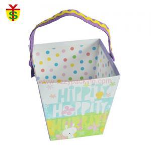 Quality Color Felt Handle Handmade Cartoon Desitn Printed Gift Paper Box for sale