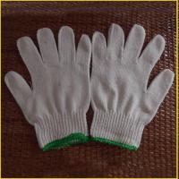 China 500g 600g 700g neatural white cotton gloves for construction on sale