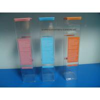 Quality Extrusion Clear Plastic Square packaging tube with Lids for sale
