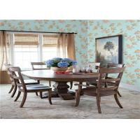 Washable Paper Backed Fabric Wallpaper , Contemporary Floral Wallpaper