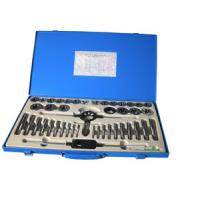 Quality 45 PCS Tin coated Tap and Die Sets with Iron box , Durable Industrial Tool Set for sale