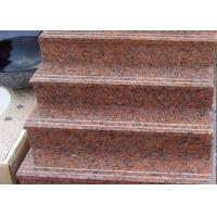 Quality Red Straight Granite Step Treads For Indoor Outdoor Step Finish Optional for sale