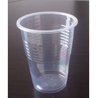 China 200ml PP Material Transparent Plastic Cup For Beverage SGS FDA Approval on sale