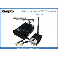 Quality 10~30KM Long Range Video Transmitter 1.2Ghz Wireless Image Sender 6 Channels Analog for sale