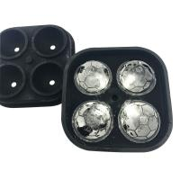 China Soccer Ball Molds 2018 Russia World Cup Soccer Silicone Ice Cube Mould on sale