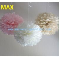 China 8/10Pom Poms Flowes Ball-Tissue Paper Pom Poms Flower in More Colors Available on sale