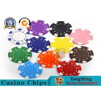 Quality PMS Printing Casino Poker Chips Abs Plastic Inner Steel Core Environmental Protection Material for sale