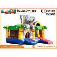 China Inflatable Animal Bouncy Castle With Slide For Kids And Adults on sale
