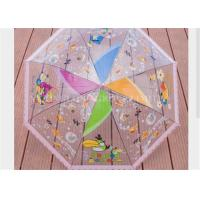 Quality Kids Clear See Through Umbrella , Transparent Compact Umbrella Tree Printing for sale