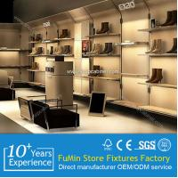Buy Chinese factory new advertising custom paper cardboard floor standing shoes display shelf at wholesale prices