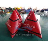 Quality Triangular Inflatable Water Buoy / Swimming Buoy With 0.6mm PVC Tarpaulin for sale