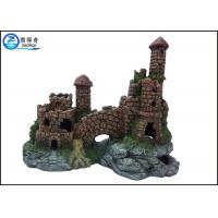 Buy Non-toxic Aquarium Resin Ornaments , Fish Tank Aqua Ornaments Castle at wholesale prices