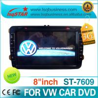 Quality 8 Inch 3G PIP Virtual Charger Volkswagen DVD GPS With  3D Map / Smart TV  / Car Dashboard Display ST-7609 for sale