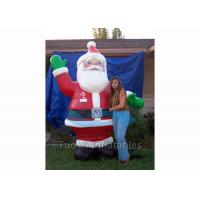 Quality Giant Inflatable Cartoon Characters / Inflatable Santa Claus for Christmas Promotion for sale